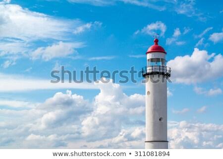 Deniz feneri Hollanda güney Hollanda plaj doğa Stok fotoğraf © benkrut