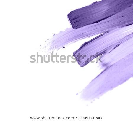 close up of ultra violet paint smear sample Stock photo © dolgachov