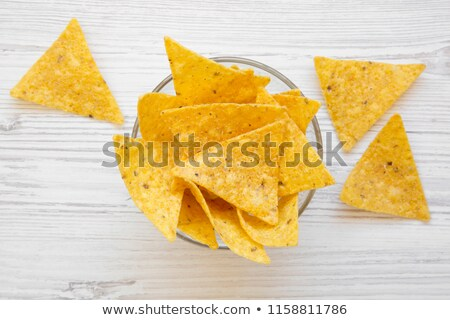 Served bowl of corn chips  Stock photo © dash