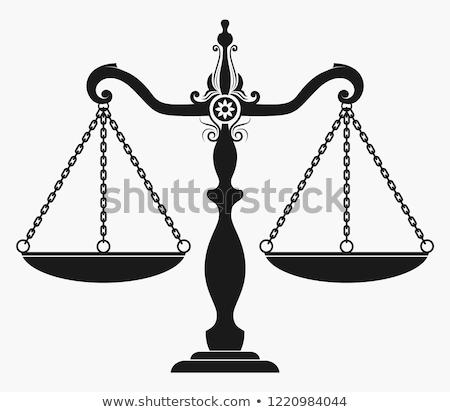 シルエット 小槌 正義 規模 背景 ストックフォト © AndreyPopov