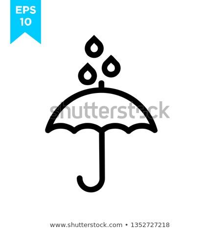 autumn raining day. Umbrella Icon. Vector illustration design Stock photo © Linetale