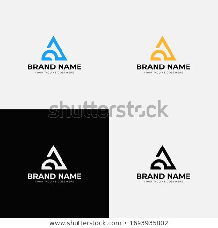 Black Bold and Curvy Geometrical Letter A Vector Illustration Stock photo © cidepix
