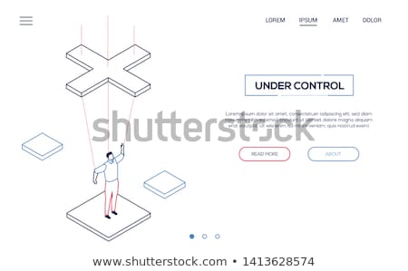 Under control - modern isometric vector website header Stock photo © Decorwithme
