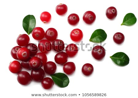 Heap of Cranberries, top view, paths Stock photo © maxsol7