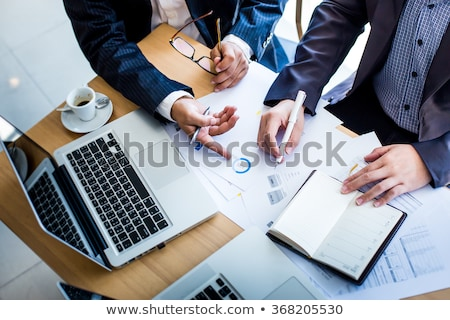 Hand holding business plan  Stock photo © ra2studio