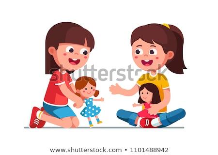 criança · menina · juntos · mãe · irmã · jogar - foto stock © Lopolo