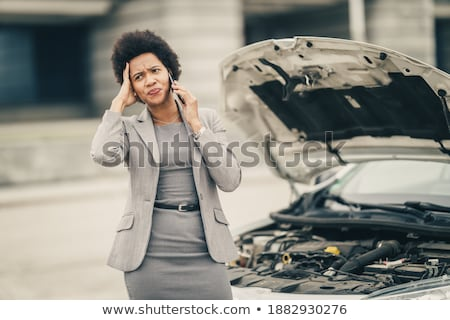 Woman Calling For Assistance After Car Accident Stock photo © AndreyPopov