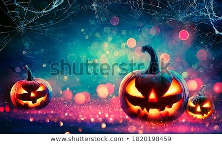 Halloween background with cobweb and face  Stock photo © Kotenko