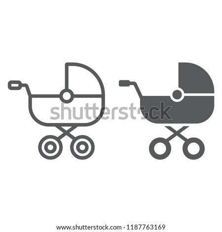 Carrozzina icona colore design famiglia bambino Foto d'archivio © angelp