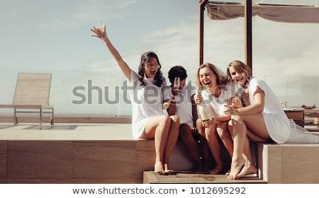 Friends Celebrating Bachelorette Party Of The Bride Stock photo © AndreyPopov