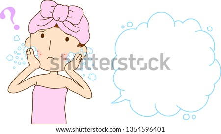 Illustration of a woman with rough skin with Bubble Callout  Stock photo © Blue_daemon