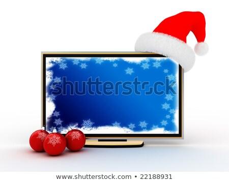 Plasma tv azul nuevos año Screen Foto stock © mayboro