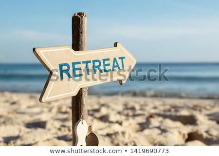 Beach Retreat Text On The Sandy Beach Stock photo © AndreyPopov