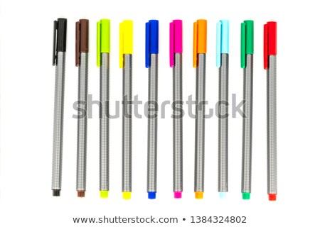 A complete collection of capped fineliners  Stock photo © grafvision