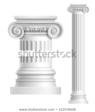 Columna icono blanco diseno rojo piedra Foto stock © smoki
