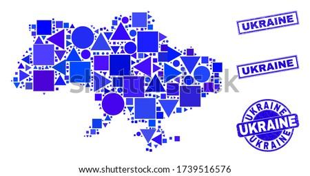 kék · négyzetek · struktúra · mértani · formák · egy - stock fotó © cidepix