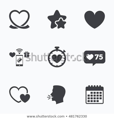 Stok fotoğraf: Sevmek · zaman · logo · saat · kalp · simge