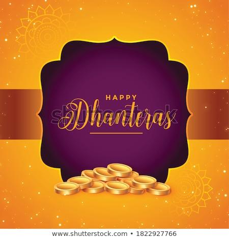 lovely happy dhanteras decorative festival card design Stock photo © SArts