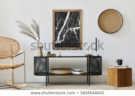 Fotel wygodny meble domu wnętrza krzesło Zdjęcia stock © robuart