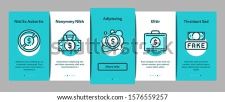 Falsificação dinheiro elementos vetor móvel Foto stock © pikepicture