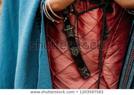 burocracia · mulher · grande · tesoura · fita - foto stock © silanti