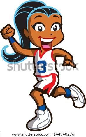 Cartoon basket illustration balle drôle Photo stock © bennerdesign