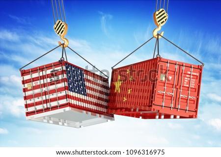 Nemzetközi házhozszállítás szállítmány Kína USA férfiak Stock fotó © robuart