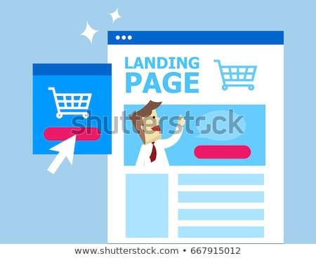 Clique aterrissagem página digital mercado Foto stock © RAStudio