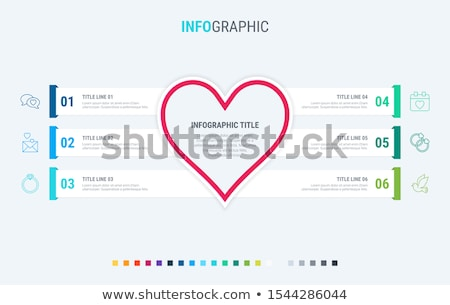 Love infographic template. 6 steps heart design with beautiful colors. Vector timeline elements for  Stock photo © ukasz_hampel