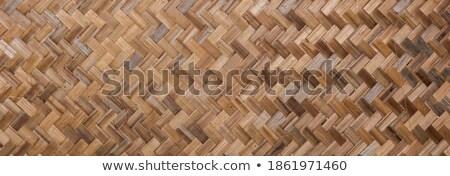 flat woven bamboo Stock photo © pancaketom