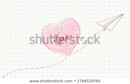 Rosso cuore carta da lettere amore bianco lettera Foto d'archivio © devon
