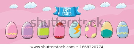 húsvéti · tojás · alkat · narancs · fehér · előadás · felső - stock fotó © dariusl