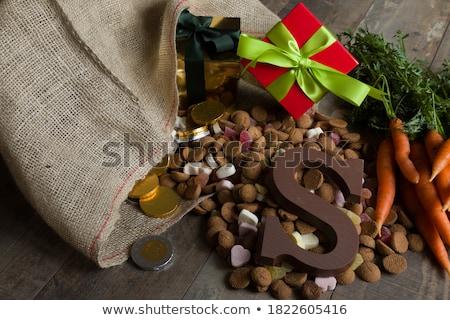 Cukorka hagyományos holland izolált fehér étel Stock fotó © ivonnewierink
