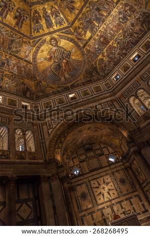 Florencja ołtarz Włochy krzyż sztuki wnętrza Zdjęcia stock © ca2hill