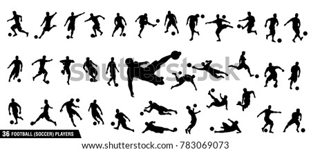 Football Players Silhouettes Set Stock photo © Kaludov