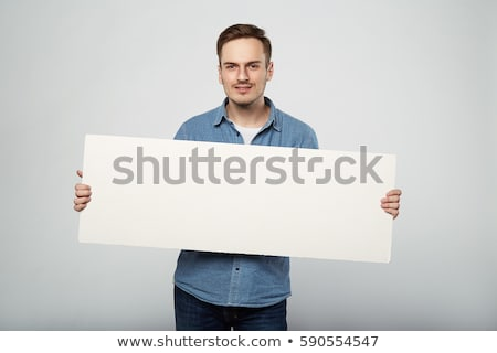 man holding a white board Stock photo © photography33