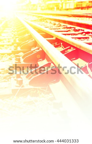 Close-up of the railway tracks complex junction Stock photo © kawing921