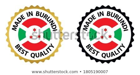 Vetor etiqueta Burundi cor carimbo venda Foto stock © perysty