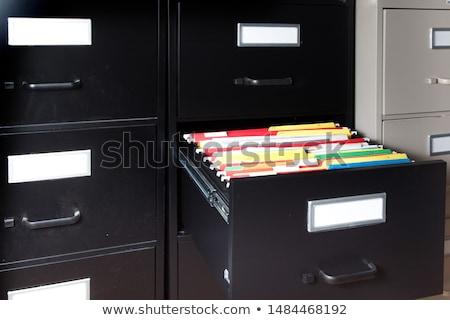 Metal · kutu · kağıtları · yalıtılmış · beyaz · kâğıt - stok fotoğraf © kitch