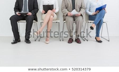 Jovem empresário espera entrevista quarto mulheres Foto stock © wavebreak_media
