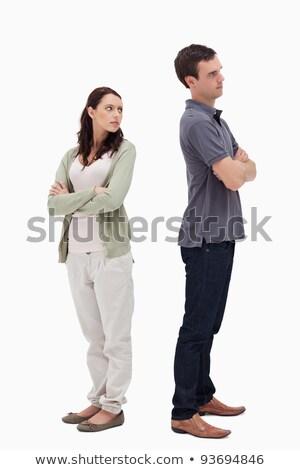 Pareja desacuerdo blanco manos cara estrés Foto stock © wavebreak_media