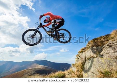 молодым · человеком · велосипедов · нарастить · безумный · Перейти · весело - Сток-фото © smuki