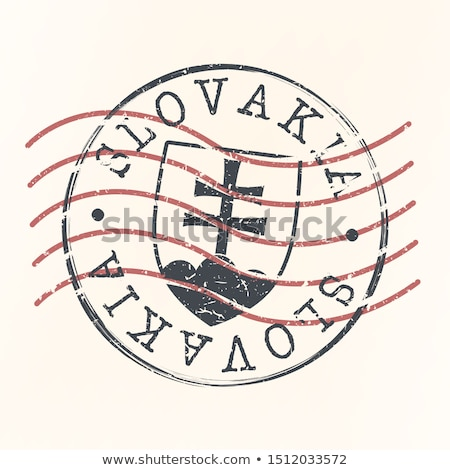 Stock photo: Slovakian post stamp