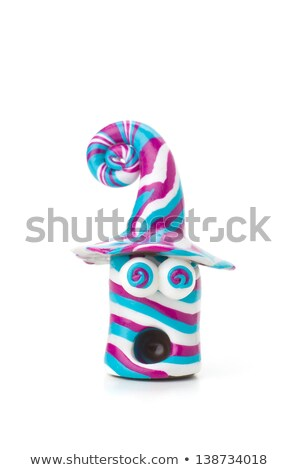Handmade modeling clay figure stripes and crazy eyes Stock photo © Zerbor