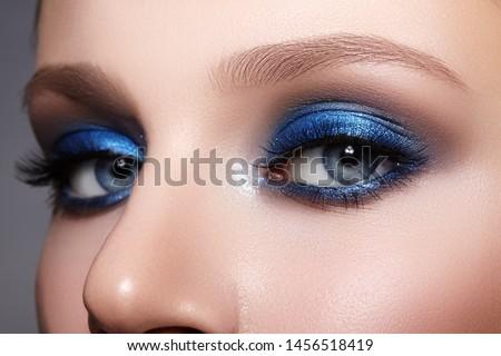 Stock photo: Beautiful blue eyes perfect woman clean portrait