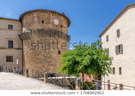 fortified medieval houses in the city of siena tuscany italy stock photo © anshar