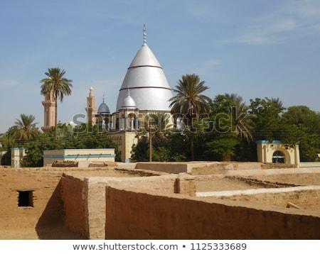 mauzóleum · sivatag · Afrika · vallás · sír · Szudán - stock fotó © meinzahn