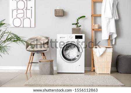 Lavadora blanco vista negro tecnología máquina Foto stock © ABBPhoto