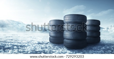 Inverno gomme auto pneumatici strada Foto d'archivio © Nneirda