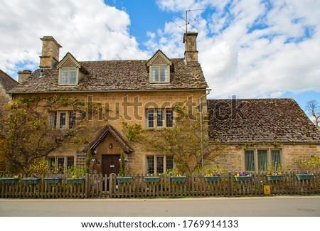 Pedra em torno de aldeia casa edifício Foto stock © trgowanlock